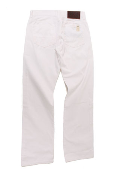 Simon Spurr Pipe Leg Twill Denim - White