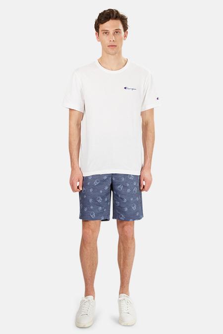 Men's Lucien Pellat-Finet Double Jacquard Bermuda Shorts - Navy Monogram