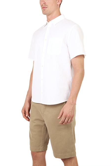 Hentsch Man Seersucker Top - White