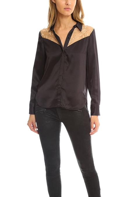 rag & Bone Angela Shirt - Licorice