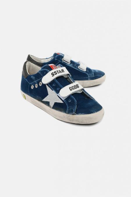 Kids Golden Goose Superstar Sneaker Shoes - Jeans Velvet Glitter Star