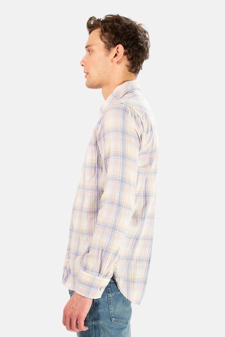 Remi Relief Cotton Plaid Shirt - light Purple