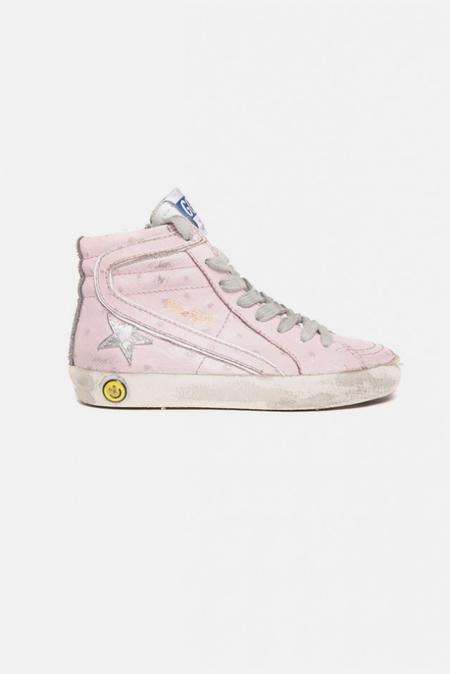 kids Golden Goose Slide Sneaker Shoes - Pink Ostritch