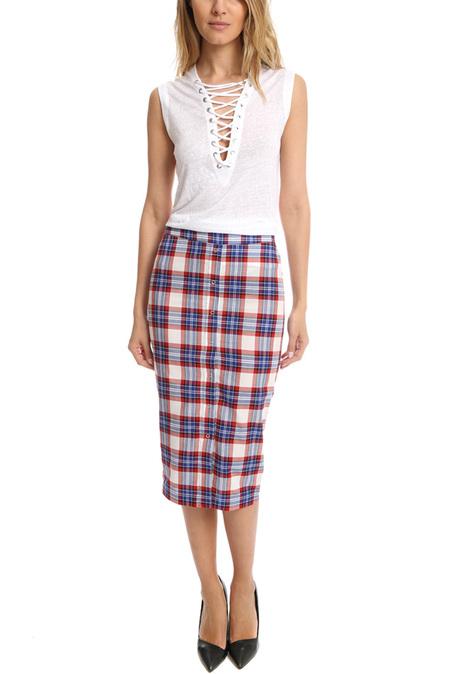 Roseanna Pix Taco Skirt - Indigo
