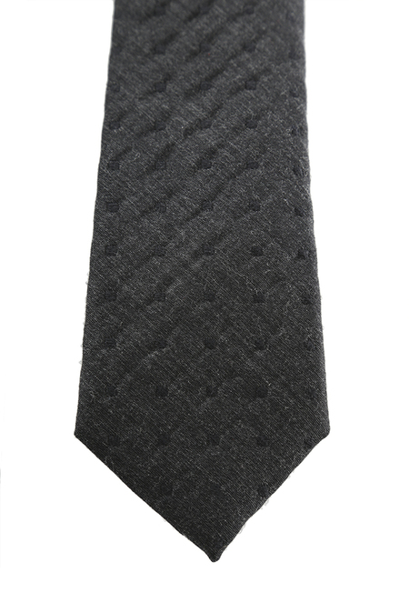 Rag & Bone Wool Dot Tie - Charcoal