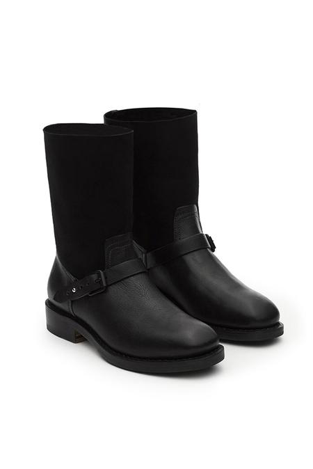 Rag & Bone Oliver Boot Shoes - Black Grey Suede