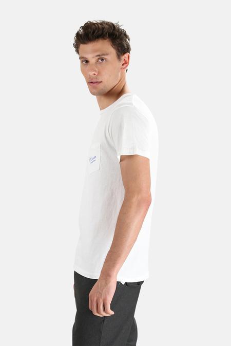 Velva Sheen x Blue&Cream Hamptons Pocket T-Shirt - White