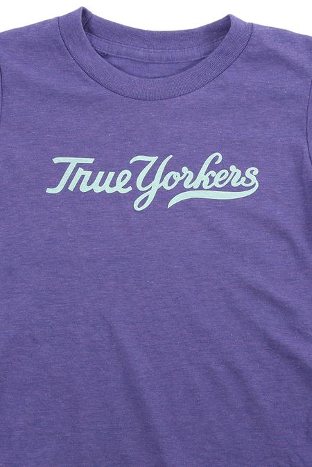 Kids Blue&Cream True Yorker T-Shirt - Orchid