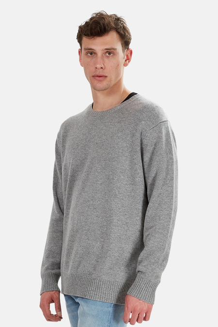 The Tile Club Oversized Cashmere Sweater - Grey