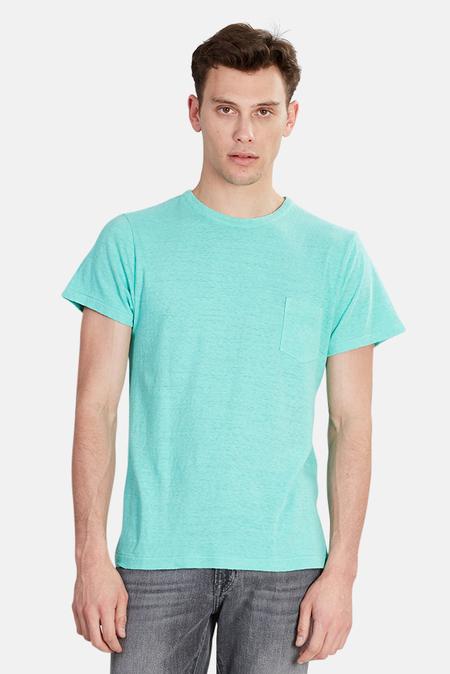 Via Spare Silk Noil Pocket T-Shirt - Emerald