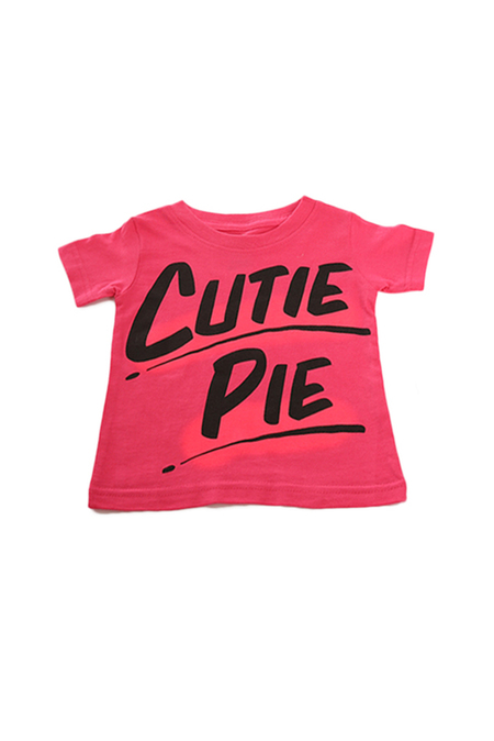 Kids Baron Von Fancy Cutie Pie T-Shirt - Pink