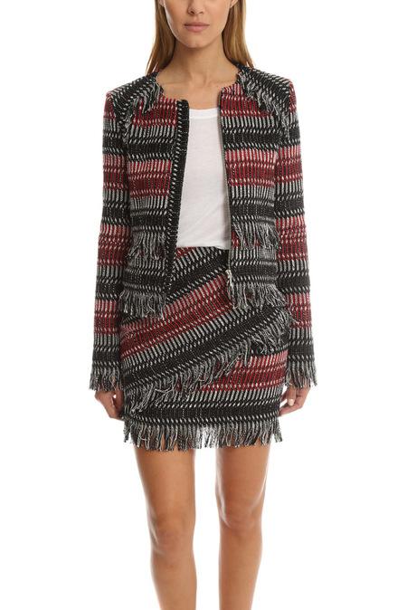 Nicholas Fringe Tweed Jacket - Multi