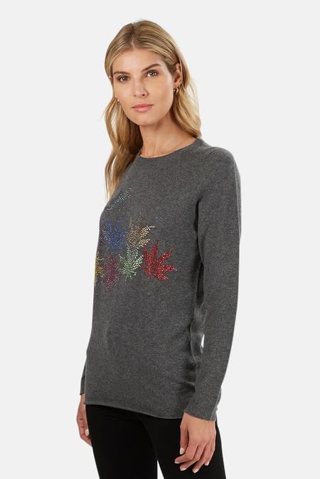 Lucien Pellat-Finet Cashmere Multi-Leaf Derby Sweater - Grey