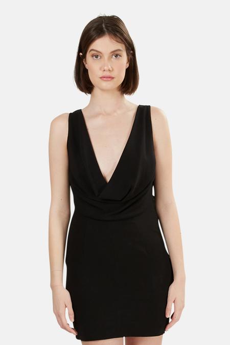 Alexander Wang Silk Crepe Dress - Black