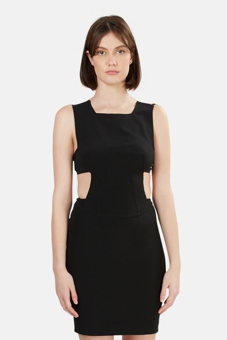 Alexander Wang Open Back Dress - Black