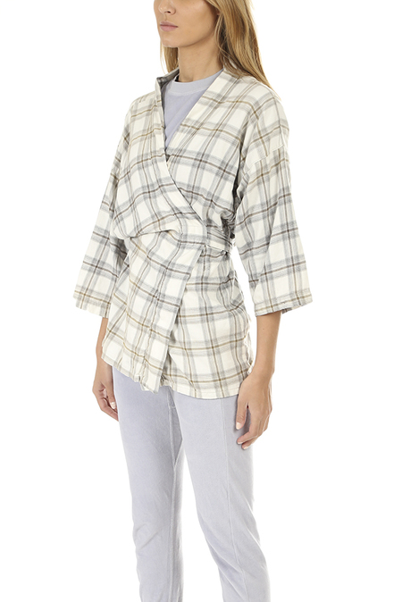 NSF Yumi Kimono Jacket - Bleach Plaid