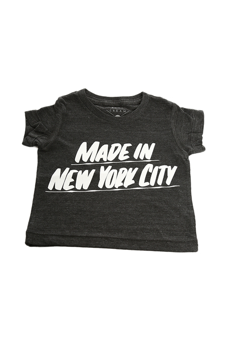 Kids Baron Von Fancy Made in NYC T-Shirt - Charcoal