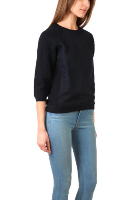 Vince Jacquard Crew Sweater - Navy