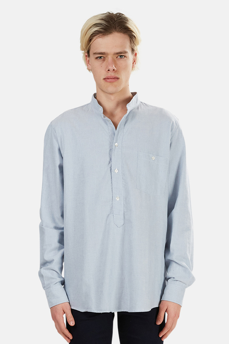 Richard James Classic Brushed Oxford Shirt - Pale Blue