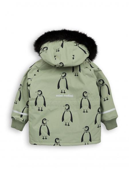Kids Mini Rodini K2 Penguin Parka Outerwear - Green