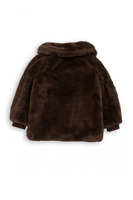 Kids Mini Rodini Faux Fur Jacket - Brown