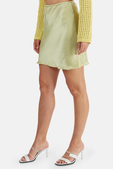 Nanushka Gem Satin Skirt - Lime