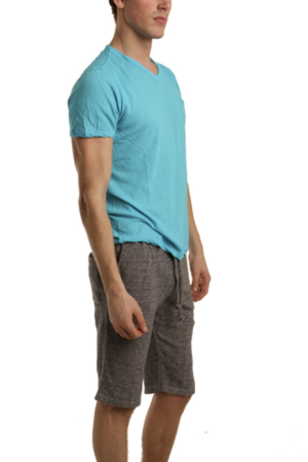 V :: ROOM V Neck Classic T-Shirt - Cyan