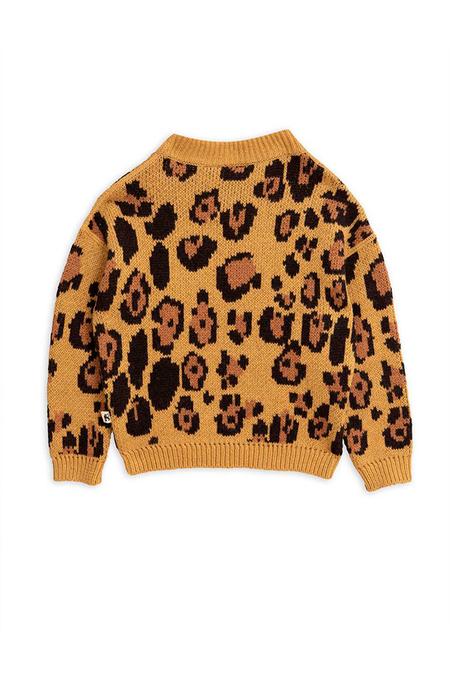 Kids Mini Rodini Leopard Wool Sweater - Brown