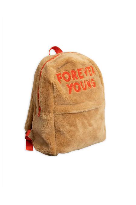 Kids Mini Rodini Faux Fur Backpack - Beige