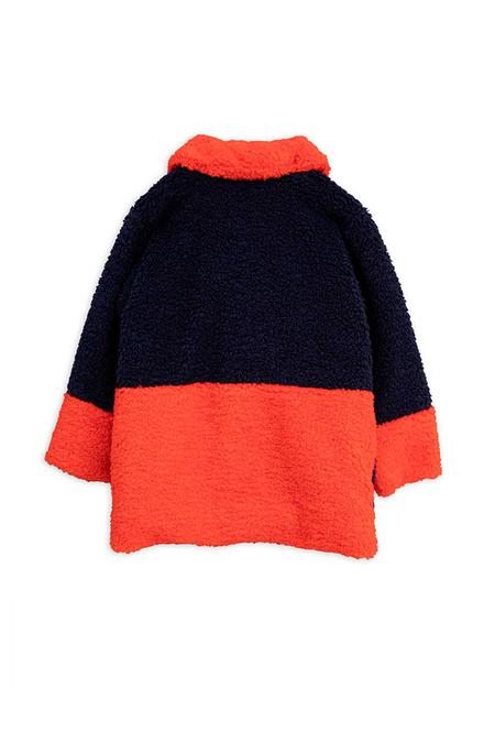 Kids Mini Rodini Faux Fur Jacket - Blue