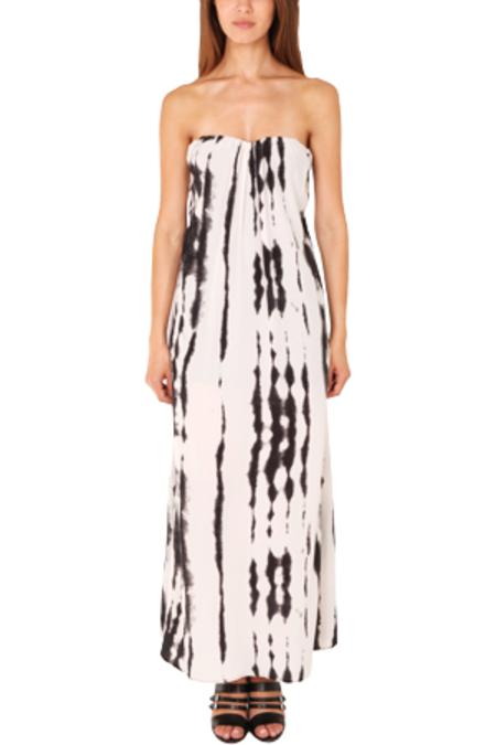 MYNE Constance Strapless Maxi Dress - Black/White Tie-Dye