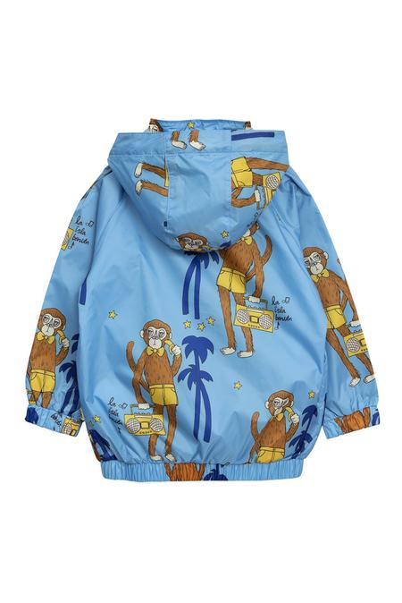 Kids Mini Rodini Cool Monkey Sporty Jacket - Light Blue