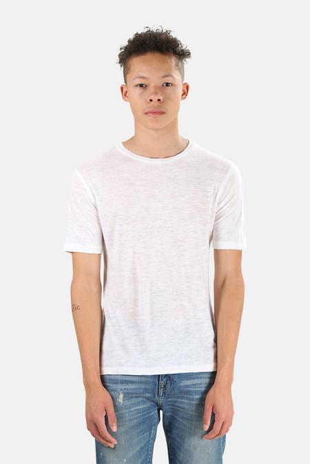 V::Room Linen Jersey Crew T-Shirt - White