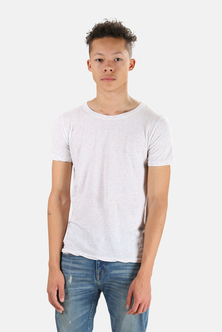 V::ROOM Anniversary Crew Tee Shirt - White Speckle