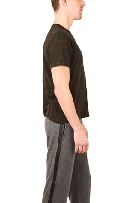 V::Room Melange Crewneck Tee Shirt - Black