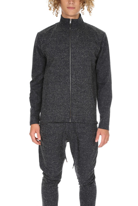 Journal Arely Track Zip Up Sweater - Grey