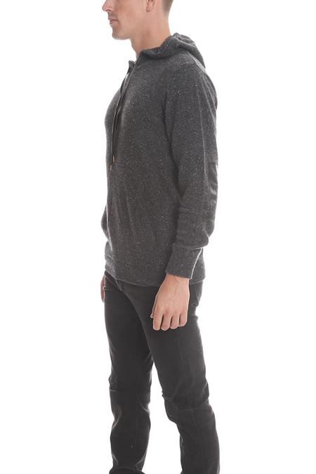 Blue&Cream Cashmere Pullover Hoody Sweater - Galaxy