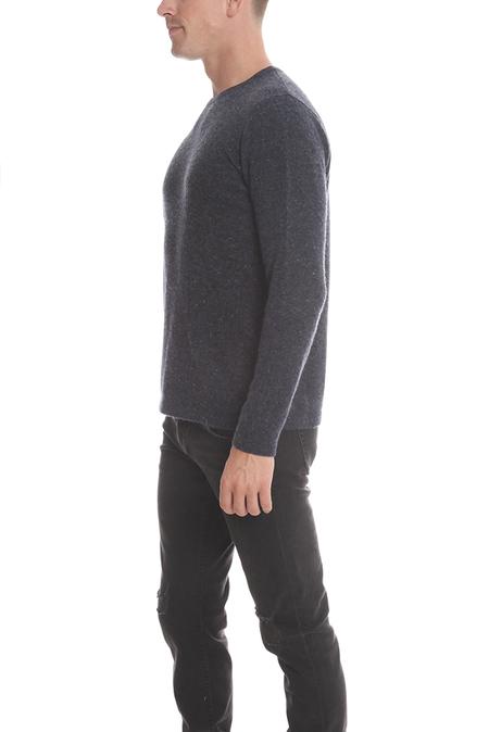 Blue&Cream Cashmere Crew Sweater - Nightsky
