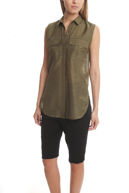 Helmut Lang Shirting Sleeveless Top - Camo