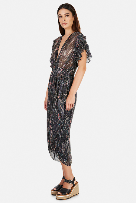 IRO Gargas Dress - Multicolor Black