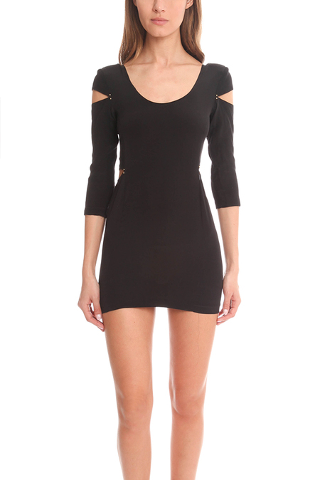 Bec & Bridge Cut-Off Dress - Black