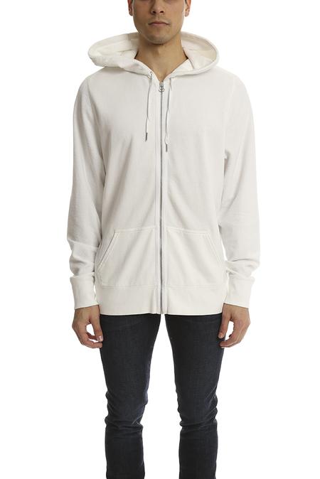 Alexander Wang Cotton Poly Zip Sweatshirt Sweater - White