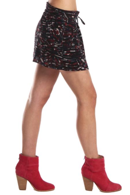 IRO Rhea Skirt - Black/Red