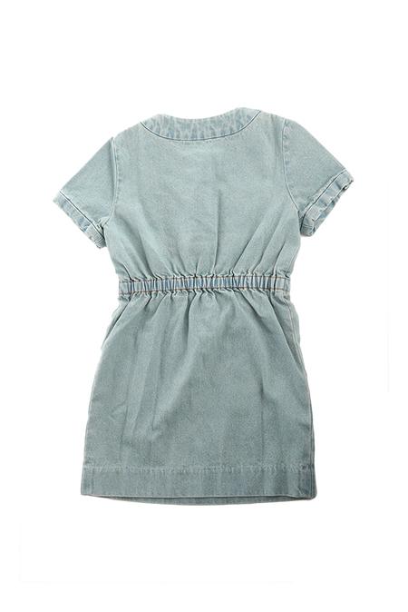 kids 3.1 Phillip Lim Shortsleeve Denim Dress - Blue denim