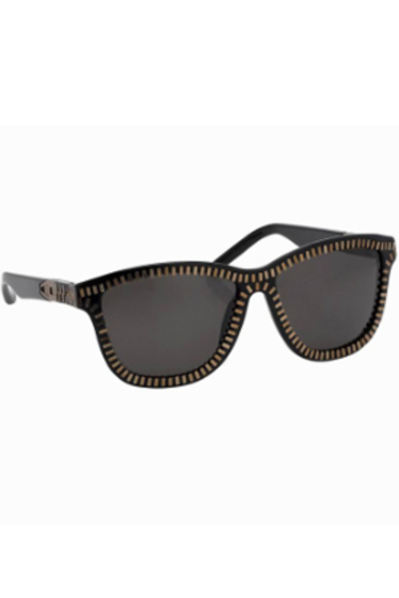 LINDA FARROW X ALEXANDER WANG Zipper Frame Sunglasses - Matte Black