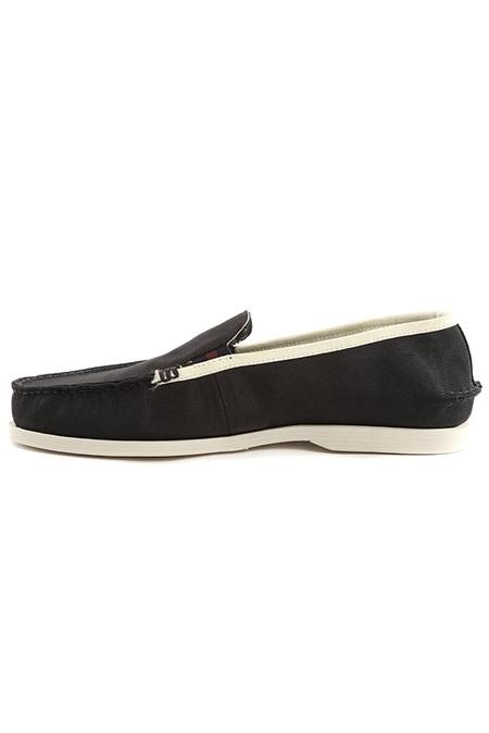 Sperry Black Boat Loafer Shoes - Black/White