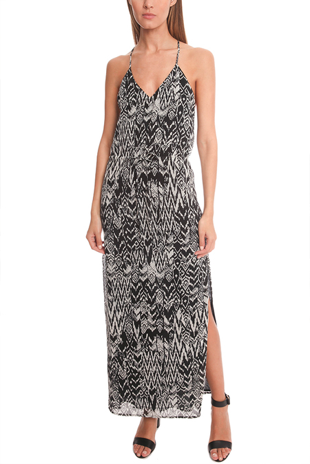 IRO Dahlia Ikat Print Dress - Black/White