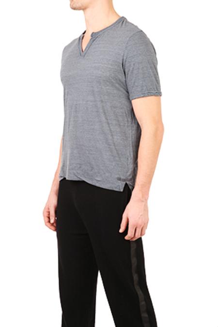 V::Room Melange Slit T-Shirt - Charcoal
