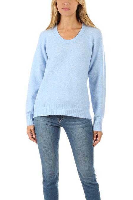 3.1 Phillip Lim Open Neck Sweater - Light Blue