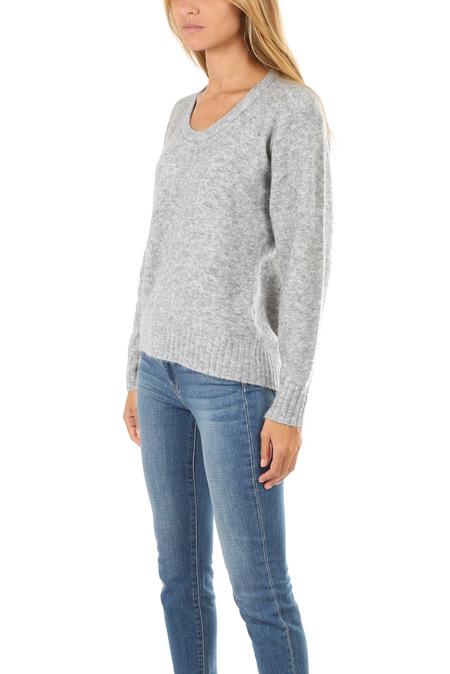 3.1 Phillip Lim Open Neck Sweater - Melange Grey